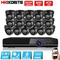 16CH 1080P AHD CCTV System 960P 2500TVL AHD CCTV Camera 16PCS 1 3MP IR Indoor CCTV