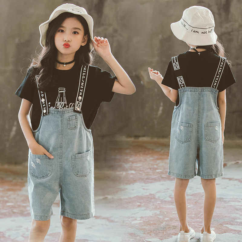5fb4bdf9e9a Girls Summer Clothes Set 2019 Kids Clothing New Girl Clothes Casual Costume  For Children 6 8