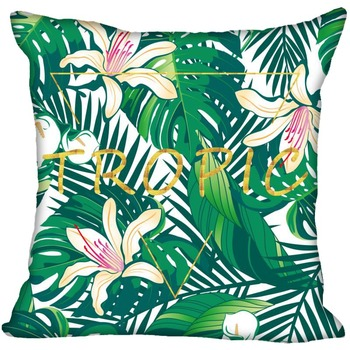 Tropical Plants Pillow Case Decorative Pillowcases Green Leaves Throw Pillow Cover Square 45X45cm One Sides