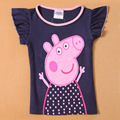 2016 New Children Casual Clothes Summer Novelty Cartoon Pig Print T-shirts Kids Nova Girls T Shirt Baby Clothing