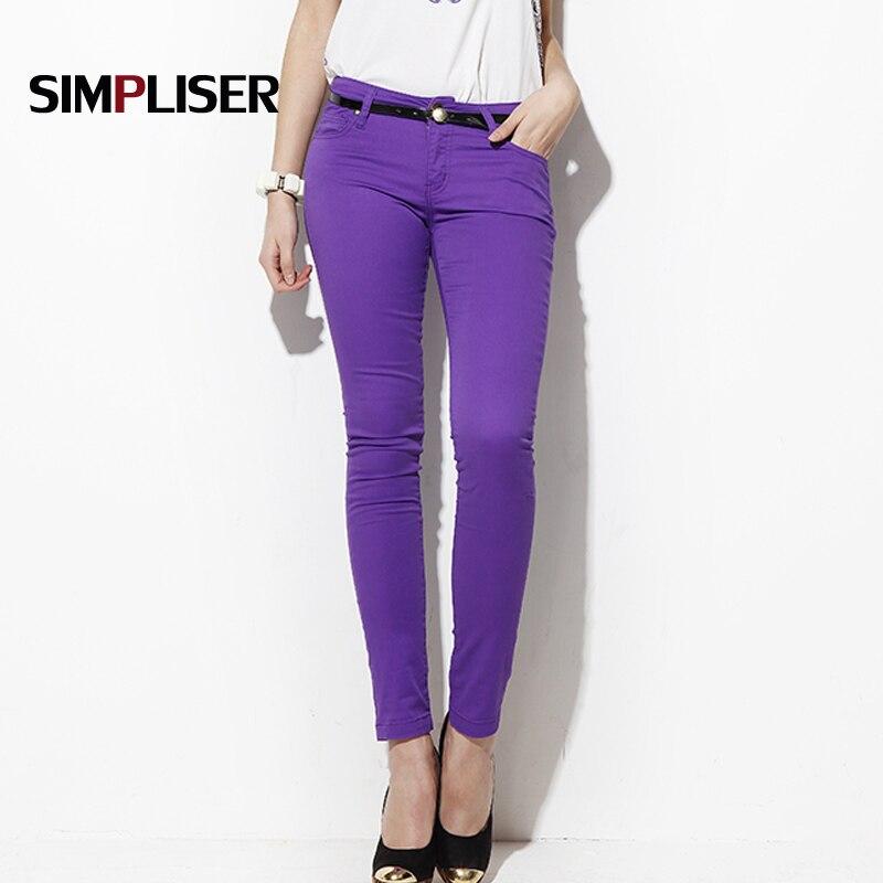 SIMPLISER Woman   Jeans   Pants Skinny   Jeans   Leggings Female Trousers 2018 Plus Size 24 Colors Ladies Basic Pencil Pants Black red