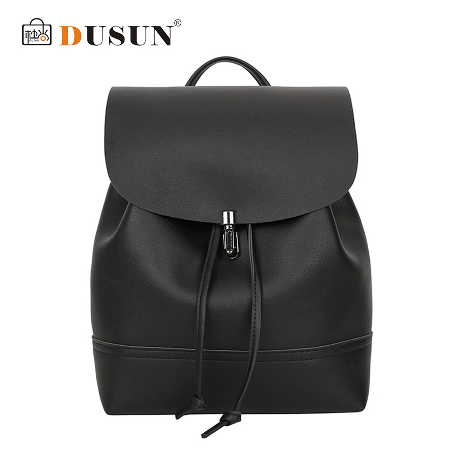 DUSUN Women Backpack High Quality PU Leather Backpacks Mochila Escolar School Bags For Teenagers Girls Leisure School Backpacks women backpack high quality pu leather mochila escolar school bags for teenagers girls top handle backpacks herald fashion page 5