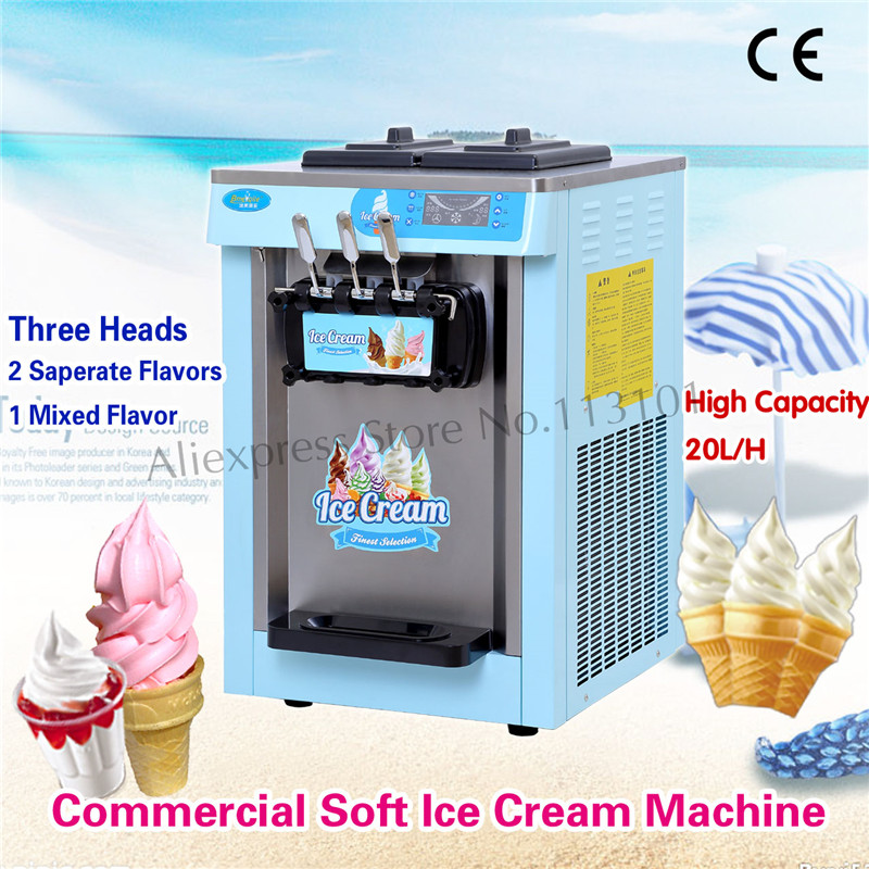 Ice Cream Machine Icecream Making Device Pink Blue Color Appearance with Updated Control System Cones Counter высокие кеды quelle quelle 931893