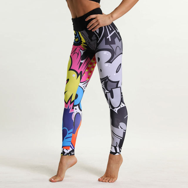 Women's Yoga Pants with Cartoon Print