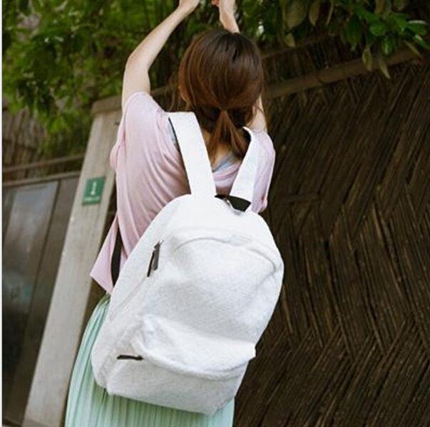 086849275740 BB 13 High Quality Fashion cute Pure White Lace canvas backpack women s  travel Preppy Style backpack brand school bags-in Backpacks from Luggage    Bags on ...