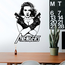 цена на Drop Shipping Black Widow Nursery Wall Stickers Vinyl Art Decals For Living Room Kids Room Wall Decal Home Decor