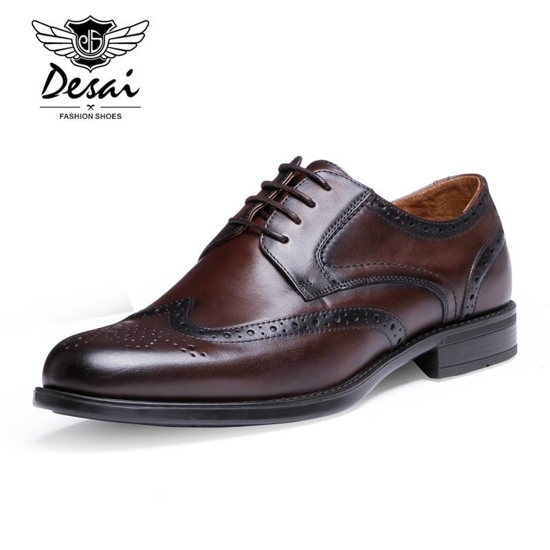 Genuine Leather Men Shoes Top Quality Oxfords Shoes For Men Dress Shoes