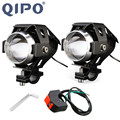 QIPO Motorcycle Motorbike Headlights Bulbs Lamp U5 Led Spotlight Accessories 12V Motor Fit For Harley Honda Yamaha
