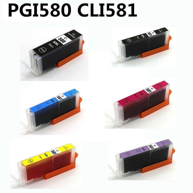 PGI580 cli581 para Canon Pixma TR7550 TR8550 TS6150 TS6151 TS6250 TS8150 TS8151 TS8152 TS9150 TS9155 TS8250 La cartucho de tinta-in Cartuchos de tinta from Ordenadores y oficina on AliExpress - 11.11_Double 11_Singles' Day 1