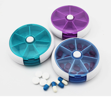 Medicine Pills Box Pill Case Medicina Container Receive A With Jewelry Parts Button Automatically Rotating Seven Small Boxes