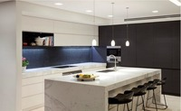 2016 новый дизайн Улучшенная Современная Глянцевая кухонная мебель для кухонных модульных кухонных блоков производителей