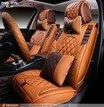 3D Estilo Cubierta de Asiento de Coche Para Renault Laguna Megane Scenic Fluence Koleos Latitud cc Talismán, Cuero de Alta fibra, Car-Cubre