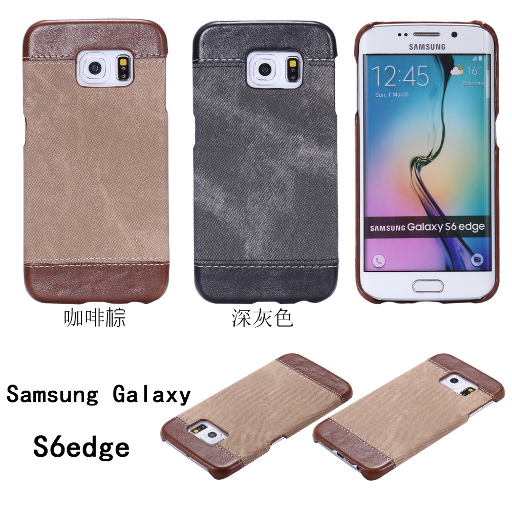 S6 Edge Luxury <font><b>Jeans</b></font> Pattern Back Cover For Samsung Galaxy S6 Edge High Quality Phone Case for sansung sumsung galaxie galaksi