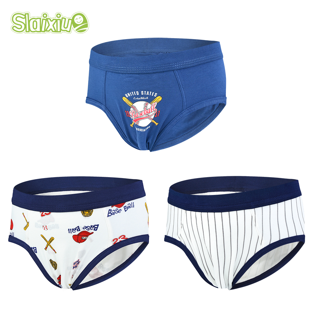 3 Pcs/lot Cotton Kids Boys Underwear Boxer Briefs Soft Children Shorts Panties Teenager Cartoon Panty For 2-10Years Old