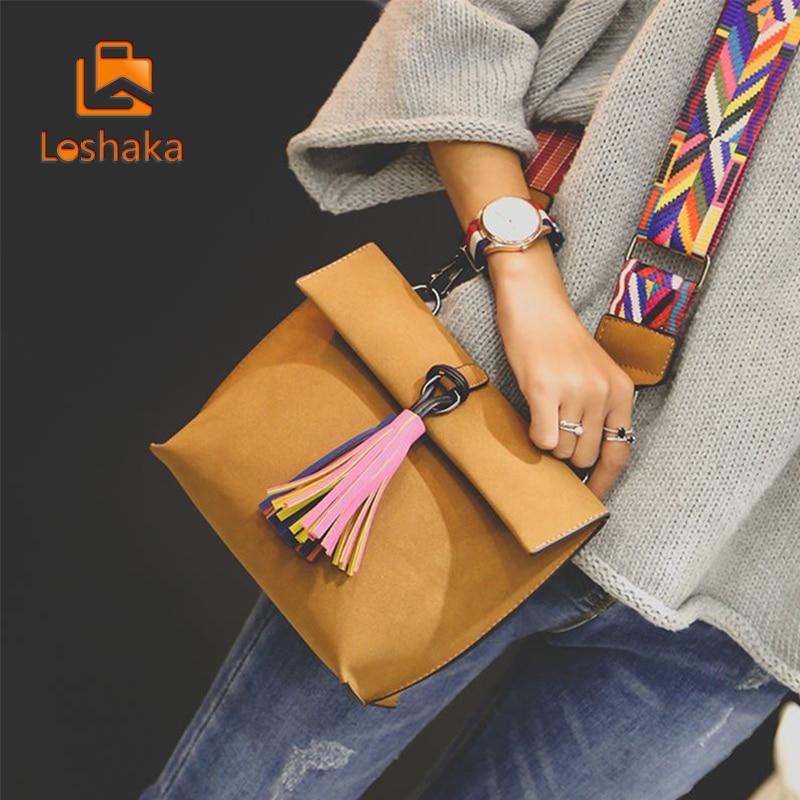 Loshaka naiste messikott Tassel Crossbody kotid tüdrukute - Käekotid - Foto 2