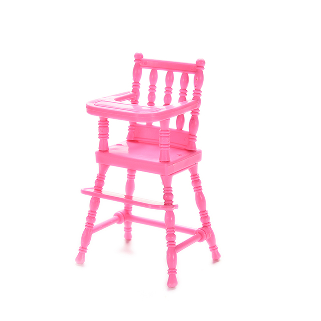 Pink Nursery Baby High Chair For Barbie Dollu0027s House Dollhouse Furniture