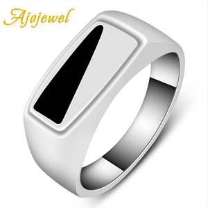 Ajojewel Black Ring Great-Product Classic-Design Triangle Fashion Men Party Men's -8-10