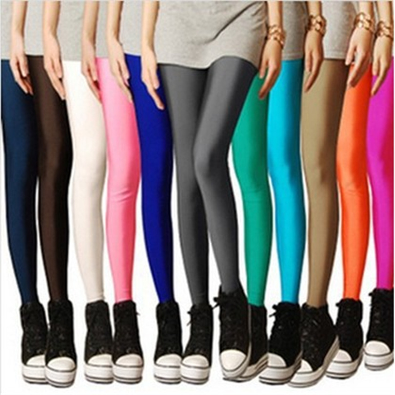 CHSDCSI Sexy Solid Candy Neon Plus Size Women's Leggings High Stretched Deportes Jeggings Aptitud Clothing Ballet Dancing Pant