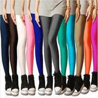 CHSDCSI Sexy Solid Candy Neon de talla grande Leggings de mujer de alto estiramiento Deportes Jeggings ropa Aptitud pantalones de baile de Ballet