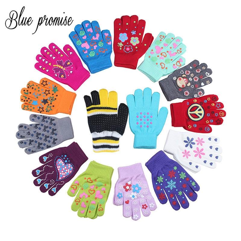 2017 Winter Warm Gloves Children Knitted