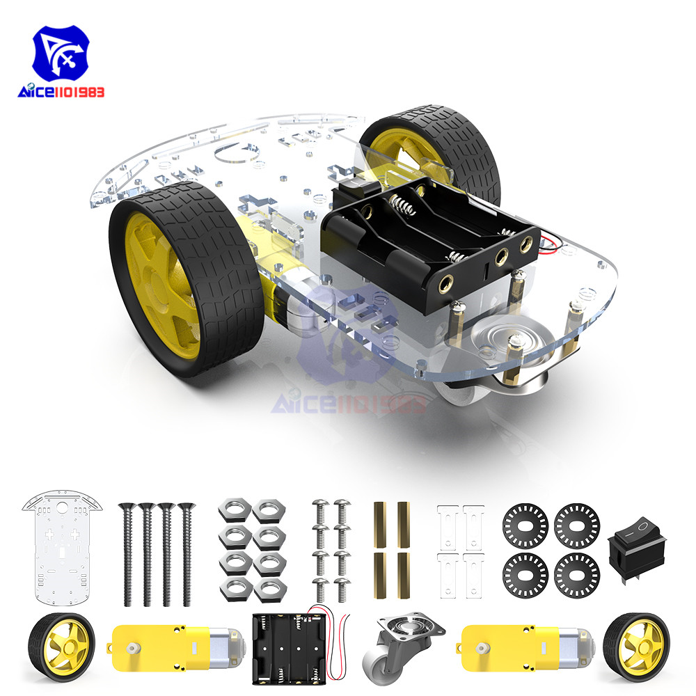 Diymore 2WD Robot Smart Car Chassis Kits With Speed Encoder For Arduino 51 M26 DIY Education Robot Smart Car Kit