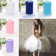 None Wedding Tulle Roll for Party Dress Decoration 15cmX200Y