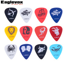 12pcs Constellation Guitar Picks HighQuality Celluloid thickness mix 0.46-1.5mm  12C