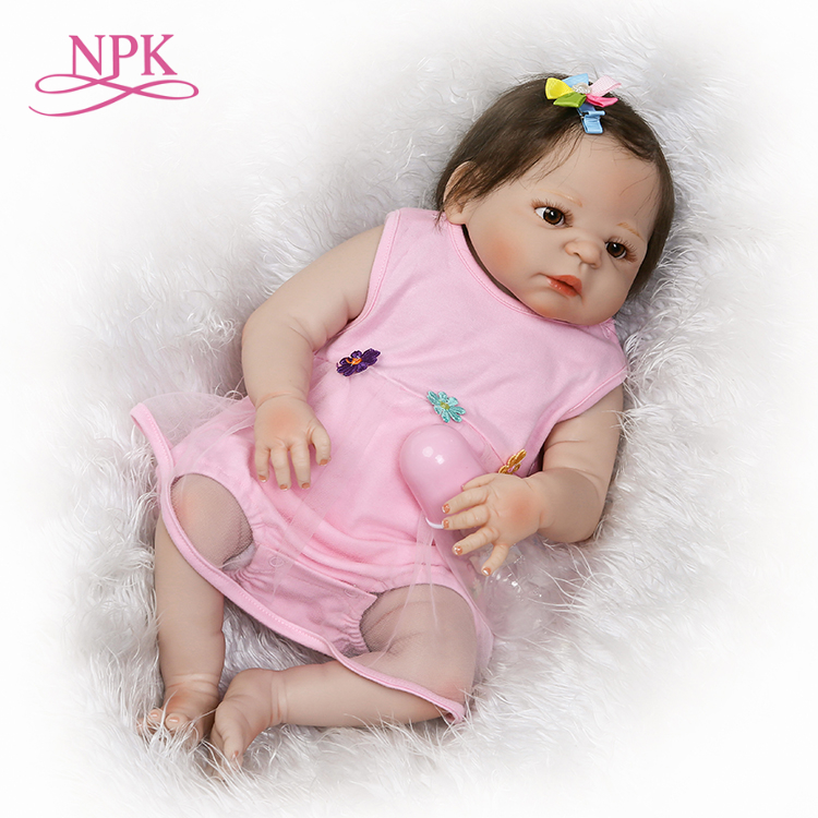 NPK pre-order reborn baby doll Gifts for children on Christmas real gender touch full vinyl girl doll