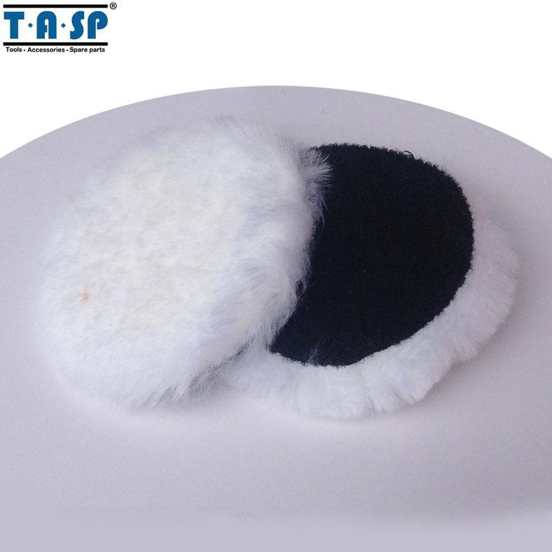 "TASP MPB125N 2 x 125 mm Almohadilla de pulido de gancho y bucle de pulido de lana de 5 ""Pulgadas Almohadilla para pulidora de automóviles"