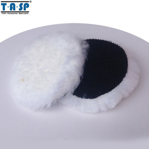 "TASP MPB125N 2 x 125mm 5"" Inch Wool Polishing Bonnet Hook & Loop Buffing Pad For Car Polisher"