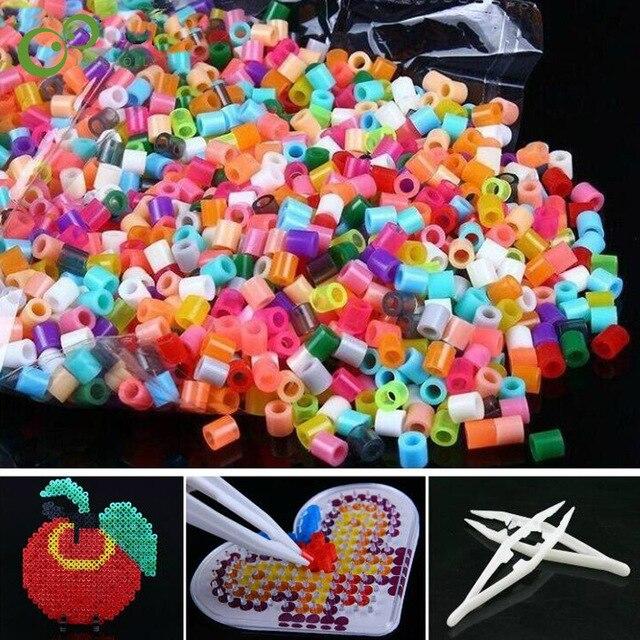 1000pcs 5mm Eva Hama Perler Beads Toy Kids Craft Diy Handmaking Fuse
