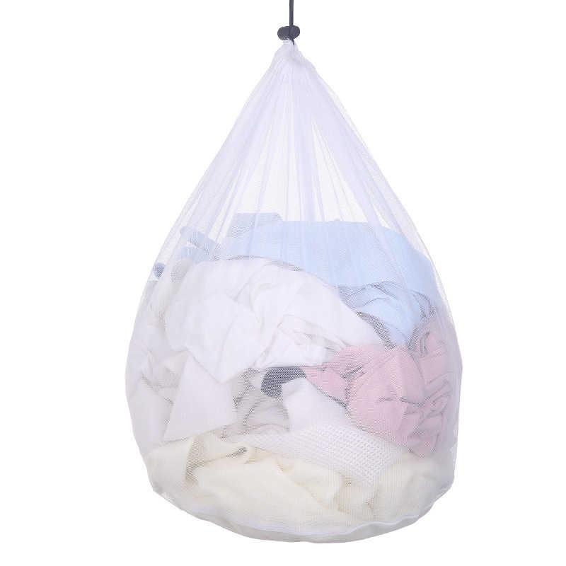 3 tamanho Opcional Grande Cordão Sacos de Underwear Bra Lavanderia Casa Máquina de Limpeza de Lavagem de Malha Sacos Titular Branco Cor do Navio Da Gota