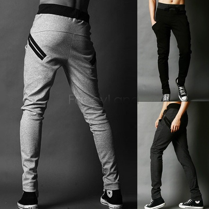 2014 New Fashion Men Casual Skinny Pants Slim Fitness Trousers For ...
