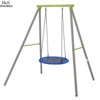 Homdox New Outdoor Comfort Durability Hanging Chair Large Hammock Chair Net Round Swing Kit N20A