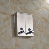 Chrome Stainless Steel Wall Mounted Soap Sanitizer Bathroom Washroom Shower Shampoo Dispenser