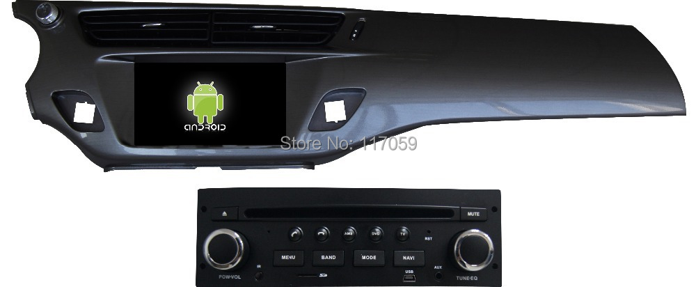 android 7 car dvd player for citroen c3 2013 ds3 with gps bluetooth swc dual zone 3g wifi radio. Black Bedroom Furniture Sets. Home Design Ideas
