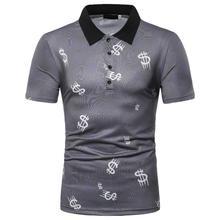 цены Polo Shirt Men Summer Tops Men Polo Shirt Hip-hop print Short sleeves Tees Casual Men's Clothing New