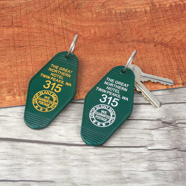 The Great Northern Hotel Room Keychain 315 Twin Peaks Priced Mobile phone belt ornament jewelry KeyRing