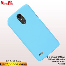 цена на ViewFar Multi Colors Case For LG G4 Stylus 3 Beat Ls770 E960 G Flex2 Nexus 4 5 Matte Cover Stylus3 Nexus5 Thin Hard Plastic Case