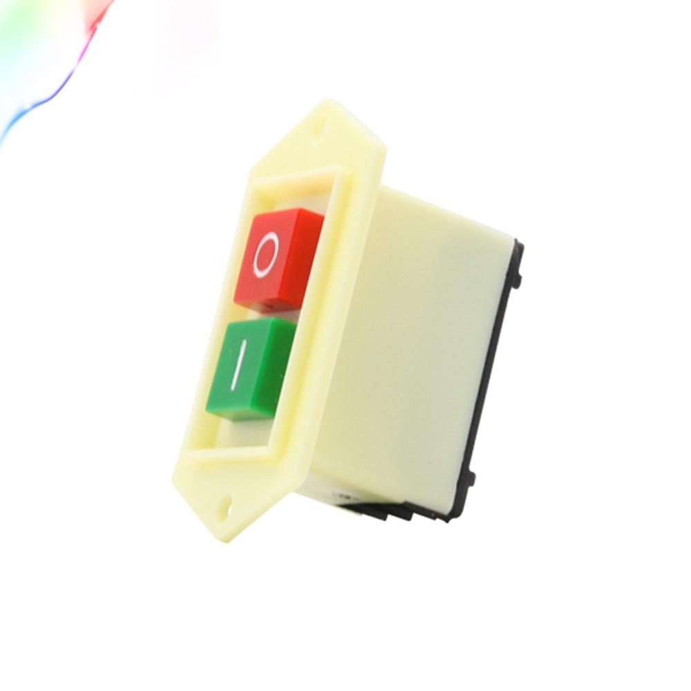 Self Locking On Off Switch 10Pcs Self-Locking On//Off Start Stop Push Button Switch AC 220V 10A LC3-5 pro Controller Switch Start Stop Push Button Switch
