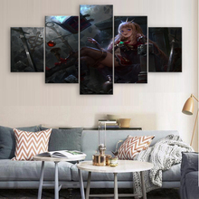 5 Piece Modern Home Decor HD Print Wall Art Canvas For Living Painting Granblue Fantasy Anime Artwork
