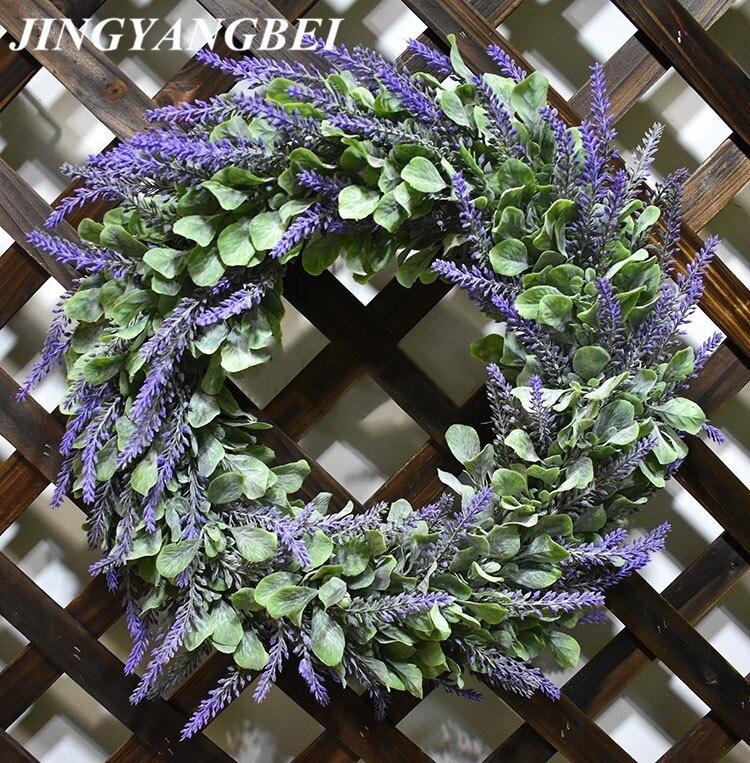 42cm Artificial flowers silk lavender wreath weeding decoration for the head take photo fashion single product42cm Artificial flowers silk lavender wreath weeding decoration for the head take photo fashion single product