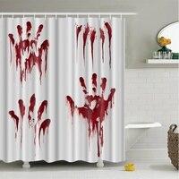 Halloween Creative Shower Curtain 3D High Definition Digital Printing Waterproof Moisture Proof Mold Halloween Bathroom Supplies