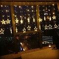Navidad Cortina de la Estrella Luz de la Secuencia 2016 de San Valentín Romántica Iluminación LED Decoración Del Jardín Patio Lámparas de Vacaciones 201600201603