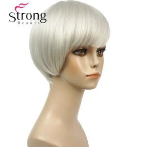 Image 5 - قوي الجمال قصيرة لينة بيضاء شعر مستعار أشقر الحرارة freindy الاصطناعية شعر مستعار كامل للنساء