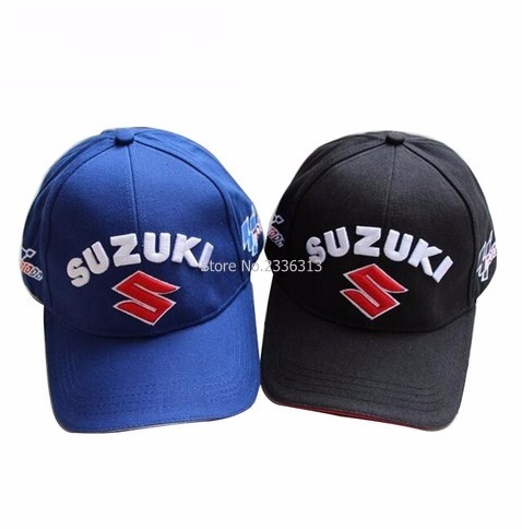 Prix pour Noir Bleu En Plein Air moto gp Hommes SUZUKI Cap Mâle Sport F1 Moto Racing Baseball Caps Voiture Soleil Chapeaux