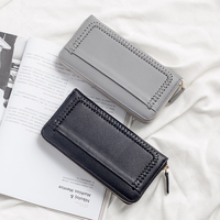 2016 New Design Fashion Multifunctional Purse Leather Wallet Women Long Style Cowhide Purse Wholesale And Retail