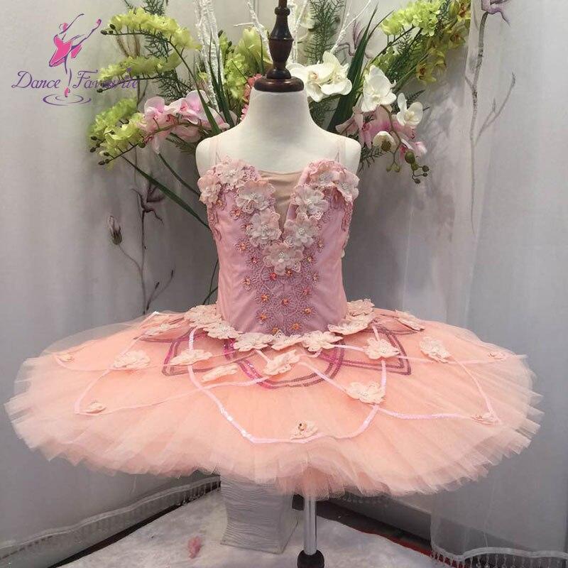Elegant design peach color professional ballet tutu women & girl stage performance classical ballet tutu ballerina pancake tutu