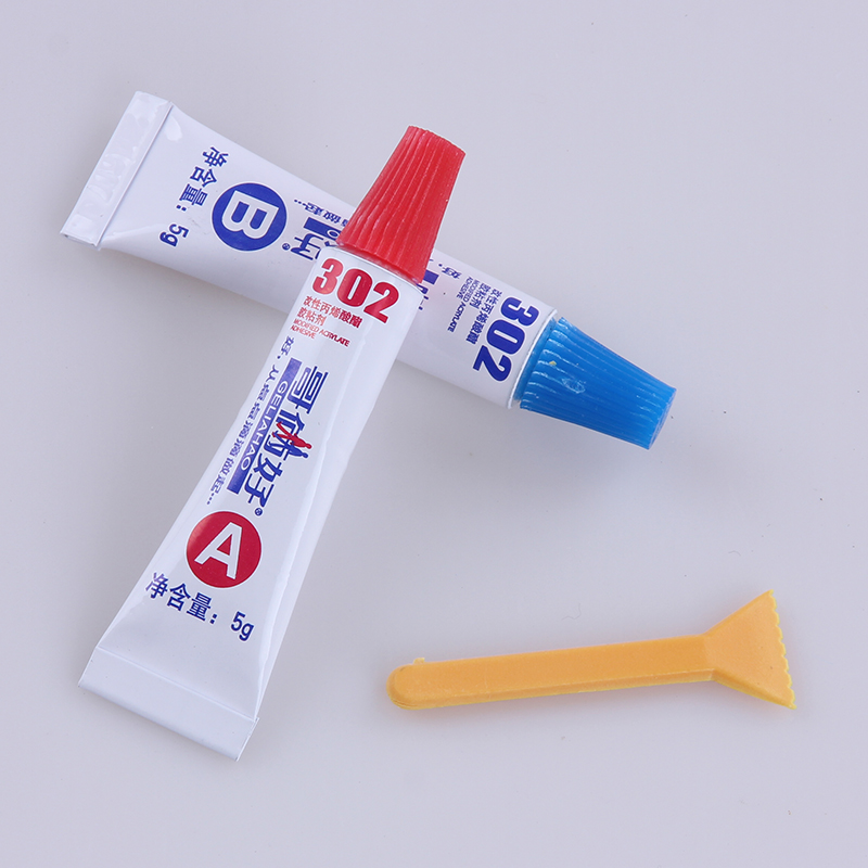 AB glue total 10g metal rubber universal glue 302 glue epoxy resin super metal PVC ABS ceramic tile wood glue free
