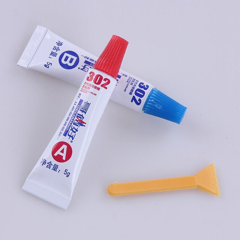AB glue total 10g metal rubber universal glue 302 glue epoxy resin super metal PVC ABS ceramic tile wood glue free shipping